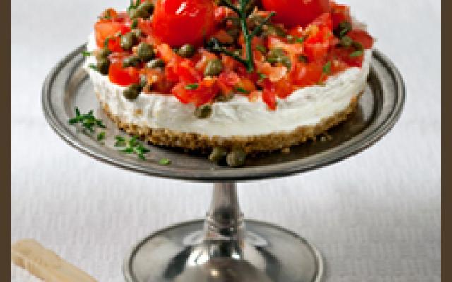 Αλμυρό Cheesecake - Τσιζκέικ