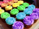 "Cupcakes ""Τριαντάφυλλο"" με frosting βουτυρόκρεμας"